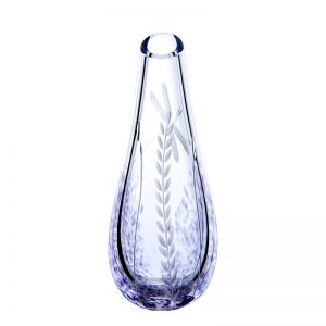 Wild Heather Irish Glass Bud Vase