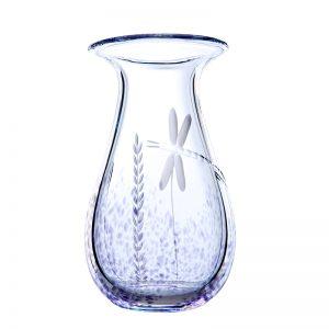 Wild Heather Irish Glass Medium Vase
