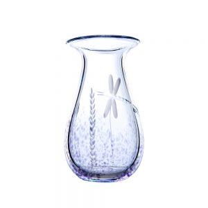 Wild Heather Irish Glass Posy Vase