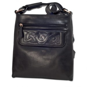 Lee River Black Leather Mary Bag