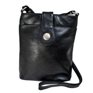 Lee River Black Leather Torc Bag