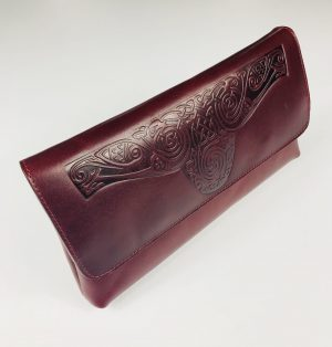 Lee River Red Ciara Clutch Bag