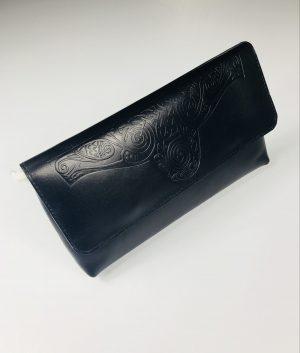 Lee River Black Ciara Clutch Bag