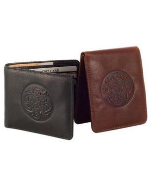Lee River Celtic Cuchulainn Leather Wallet