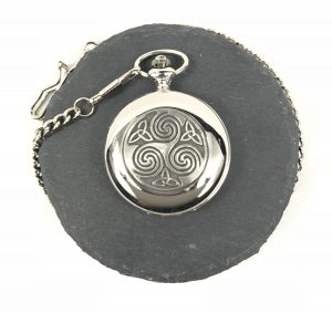 Mullingar Pewter Trinity Triskele Pocket Watch
