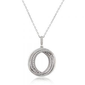 Waterford Crystal Triple Circle Pendant