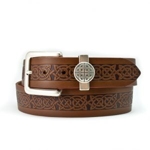 Lee River Brown Leather Celtic Jeans Belt