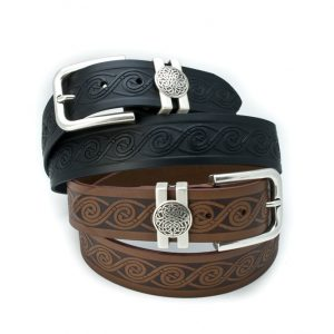 Lee River Leather Tonn Celtic Wave Belt