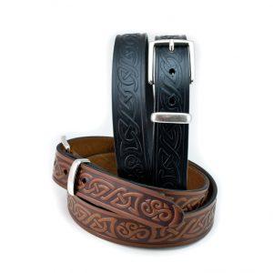 Lee River Leather Teltin Celtic Knot Belt