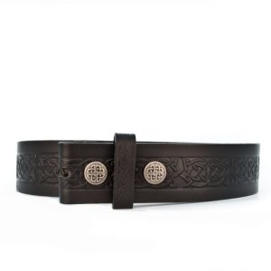 Lee River Black Snap On Setanta Celtic Leather Belt