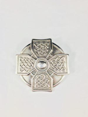 Lee River Celtic Cross Silver Belt Buckle