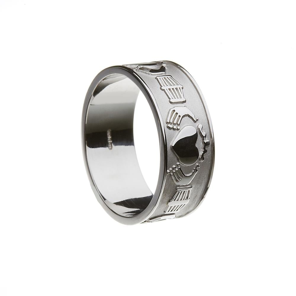 It is just an image of Wedding Band - Gents Extra Wide Claddagh - Boru 30