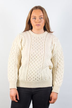 Natural Wool Aran Sweater