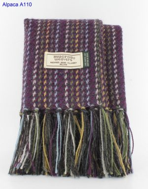 Mucros Alpaca purple Mix Scarf