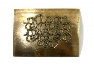 "Wild Goose Bronze Plaque ""Nil Aon Teintean-Mar Do Thintean Fein"""