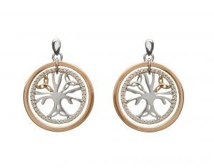 House of Lor Silver Tree of Life Earrings