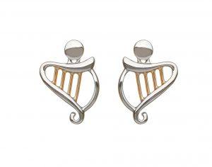 House of Lor Harp Stud Earrings