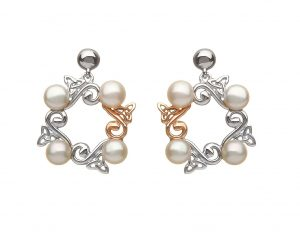 House of Lor Celtic Pearl Earrings