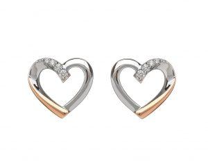 House of Lor Heart Stud Earrings