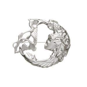 Sterling silver Children Of Lir brooch