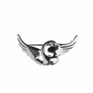 Sterling silver Children Of Lir Single Swan Brooch