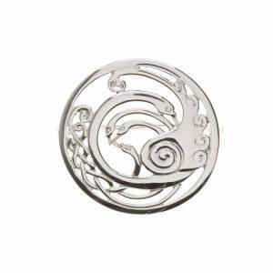 Sterling silver Children Of Lir Large Celtic Knot Swans