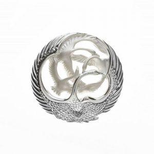 Sterling Silver Children Of Lir Four Swans Sculpted Brooch