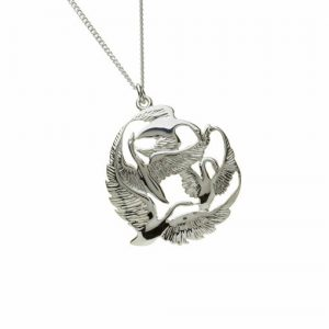 Children Of Lir Sterling Silver Pendant
