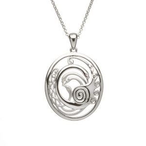 Children of Lir Oval pendant