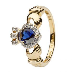 Shanore Claddagh Sapphire & Diamond Ring