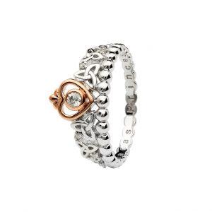 Silver Tara's Princess Heart Trinity Ring