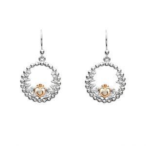 Silver Tara's Princess Heart Trinity Earrings