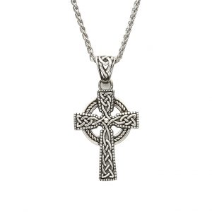 Silver Celtic knot Design Cross Pendant