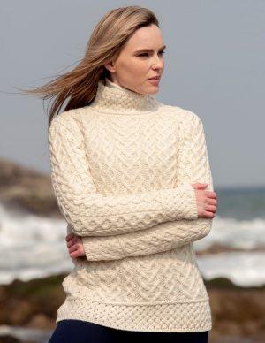 Aran Heart Knit Sweater