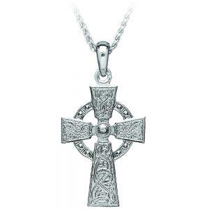 Boru Large Celtic Warrior Silver Cross