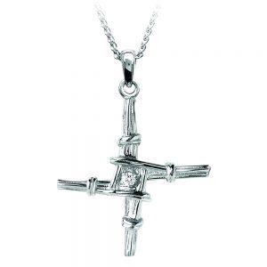Boru Small St. Brigid Diamond Cross