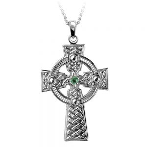 Boru Emerald Celtic Knot Cross