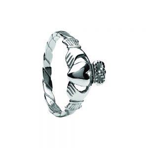 Boru Ladies Twisted Shank Claddagh Ring
