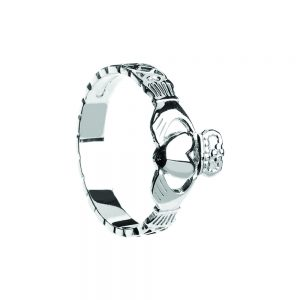 Boru Ladies Celtic Rope Claddagh Ring