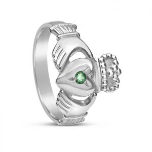 Boru Emerald Set Claddagh Ring