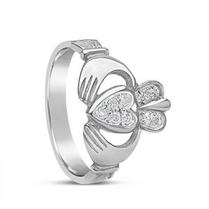 Boru Diamond Claddagh Ring