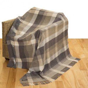 John Hanly Brown Cashmere Blanket 1413