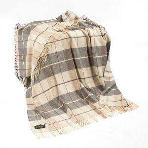 Lambswool Irish Blanket Throw John Hanly 629
