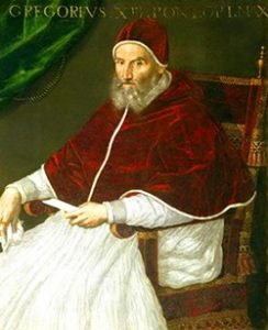 Pope Gregory XIII Lavinia Fontana [Public domain], via Wikimedia Commons