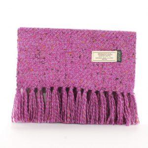 Mucros Pink Mustard Speckles Aran Scarf