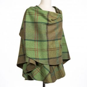John Hanly Green Lambswool Sue Cape 618
