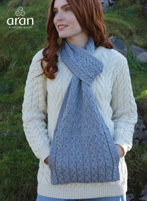 Aran Super Soft Scarf with Pockets