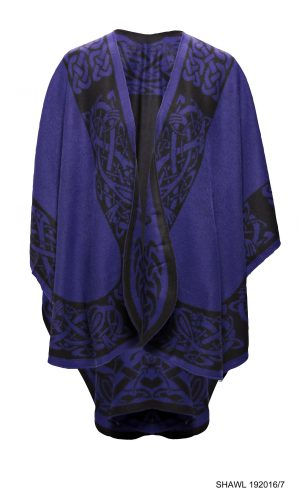 Jimmy Hourihan Purple Shawl with Celtic Motif