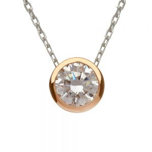 House of Lor Silver Gold CZ Necklace
