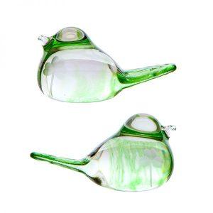 Irish Shamrock Glass Love Birds